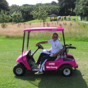 Golfplatzwerbung Cart