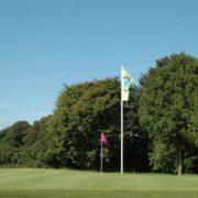 Golfplatzwerbung Flagge