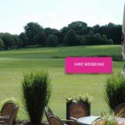 Golfplatzwerbung Terrasse